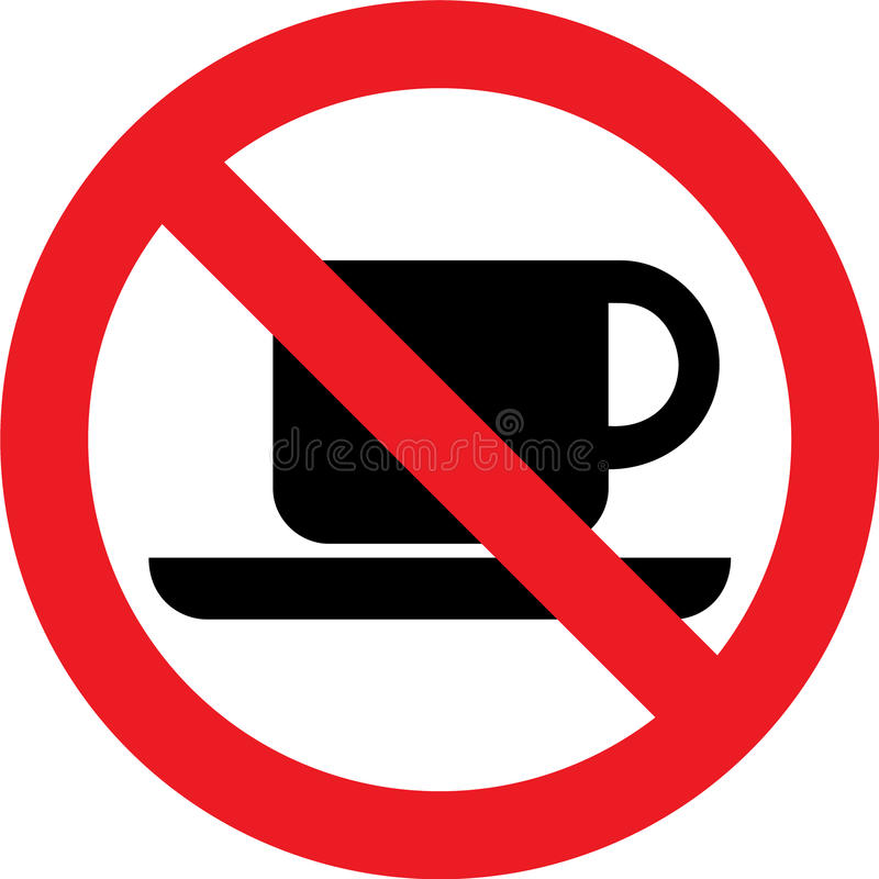 Nenhum sinal do café ilustração stock
