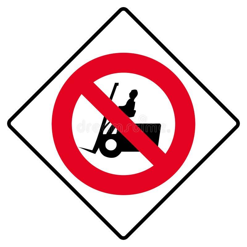 Nenhum sinal do caminhão de forklift ilustração royalty free