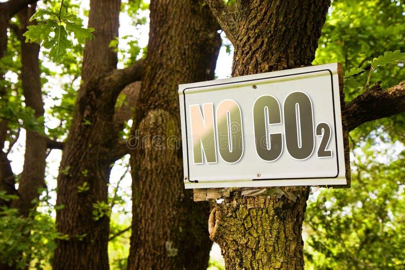 Nenhum sinal do CO2 que indica no campo imagens de stock royalty free