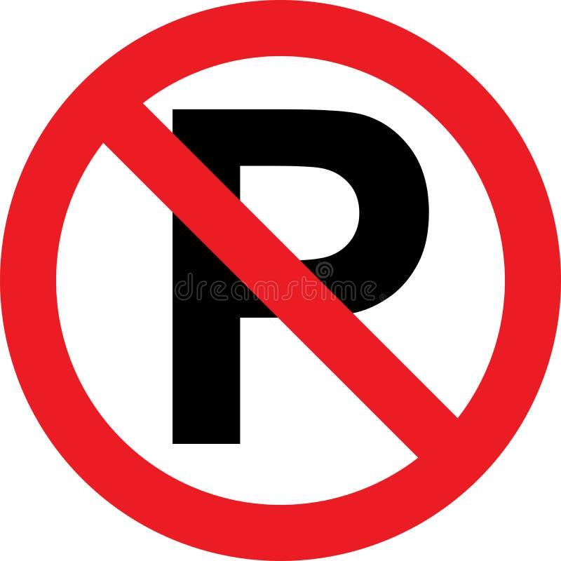 Nenhum sinal do estacionamento ilustração royalty free