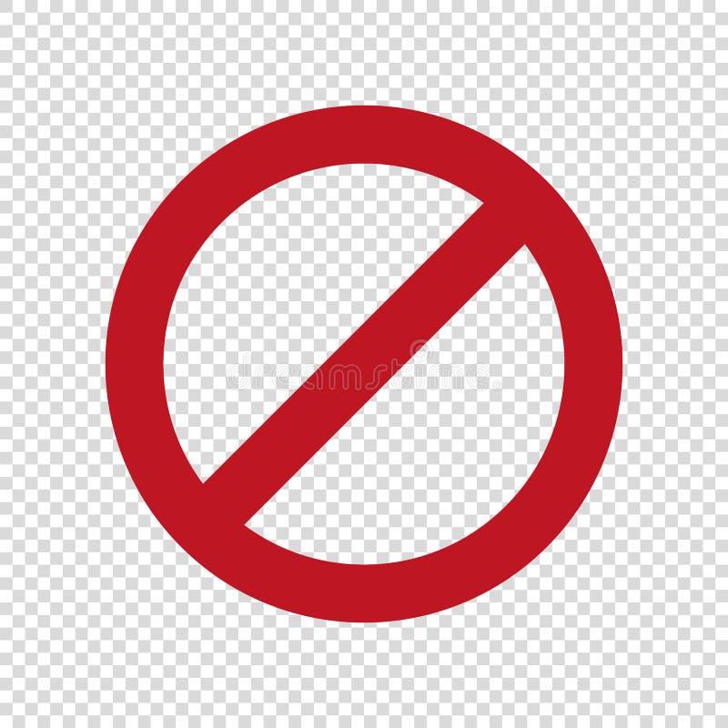 Nenhum sinal do estacionamento A parada n?o incorpora o ?cone do vetor ilustração royalty free
