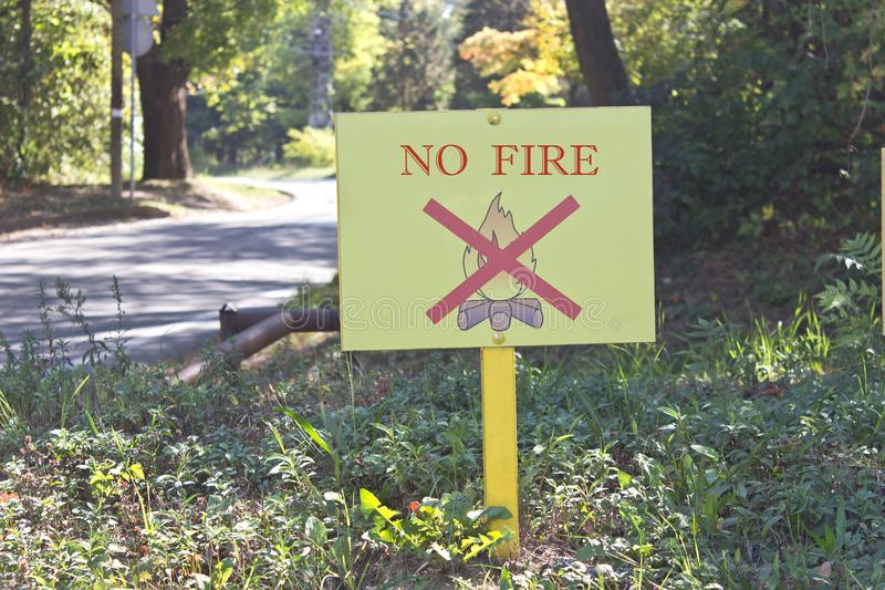 Nenhum sinal do fogo na floresta foto de stock royalty free