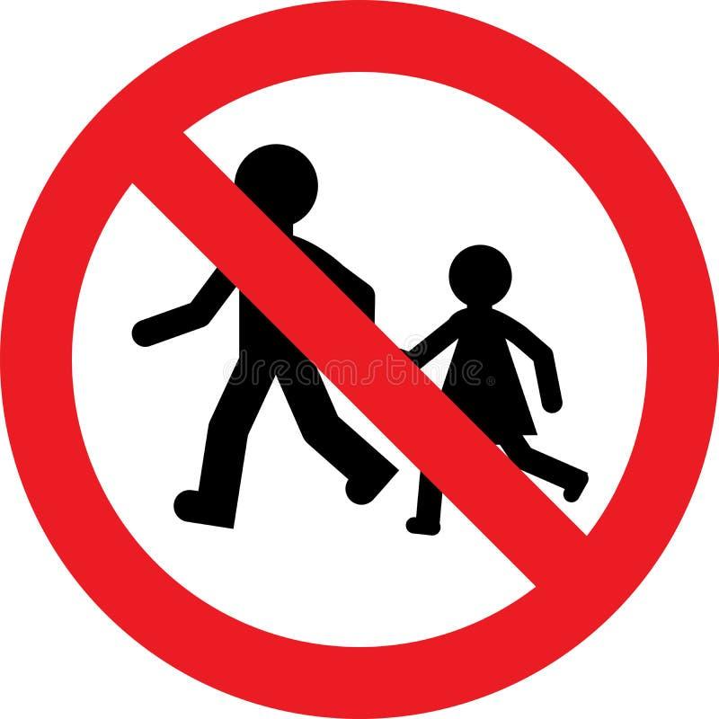 Nenhum sinal do jogo das crianças ilustração royalty free