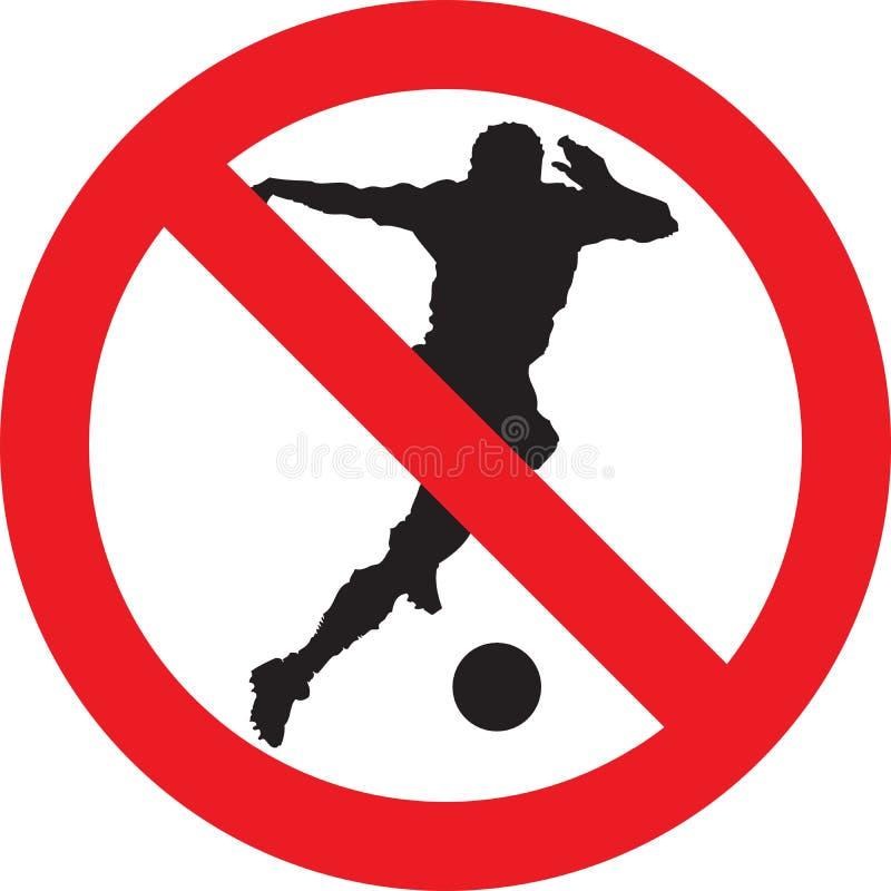 Nenhum sinal do jogo do futebol ilustração stock