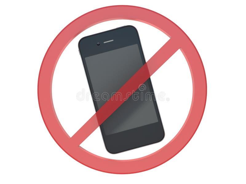 Nenhum sinal do telefone celular ilustração royalty free