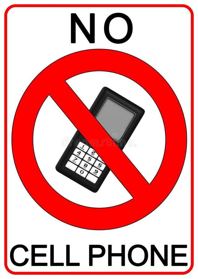 Nenhum sinal do telefone de pilha ilustração stock
