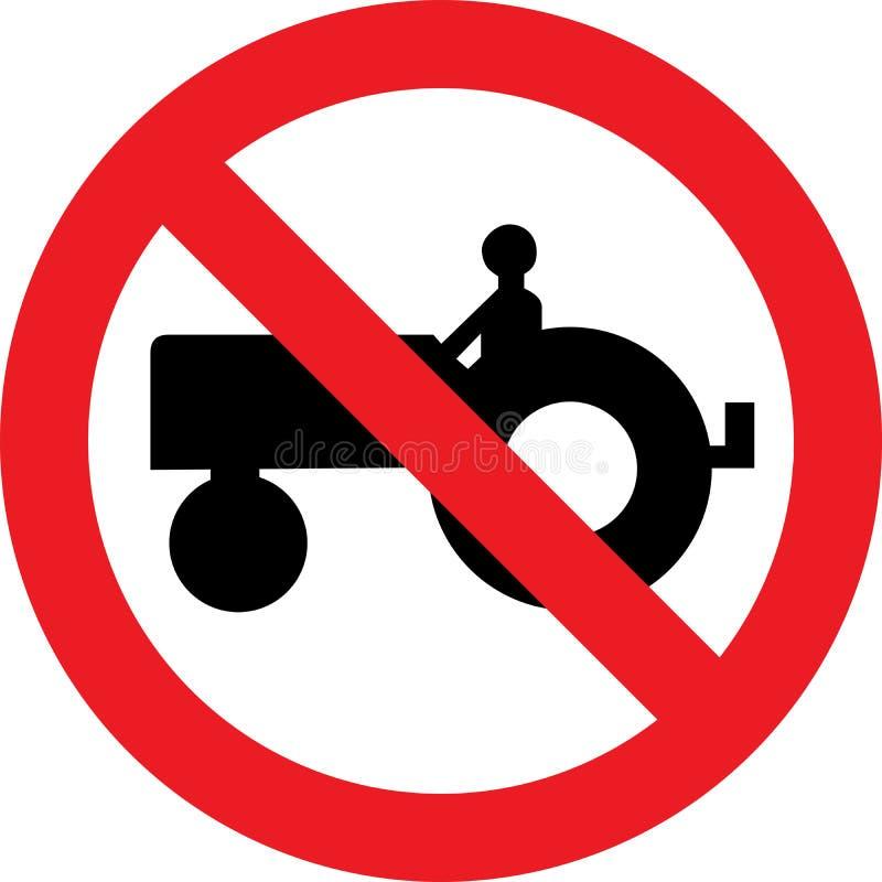 Nenhum sinal do trator de exploração agrícola ilustração do vetor
