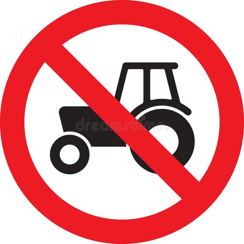 Nenhum sinal do trator de exploração agrícola ilustração royalty free