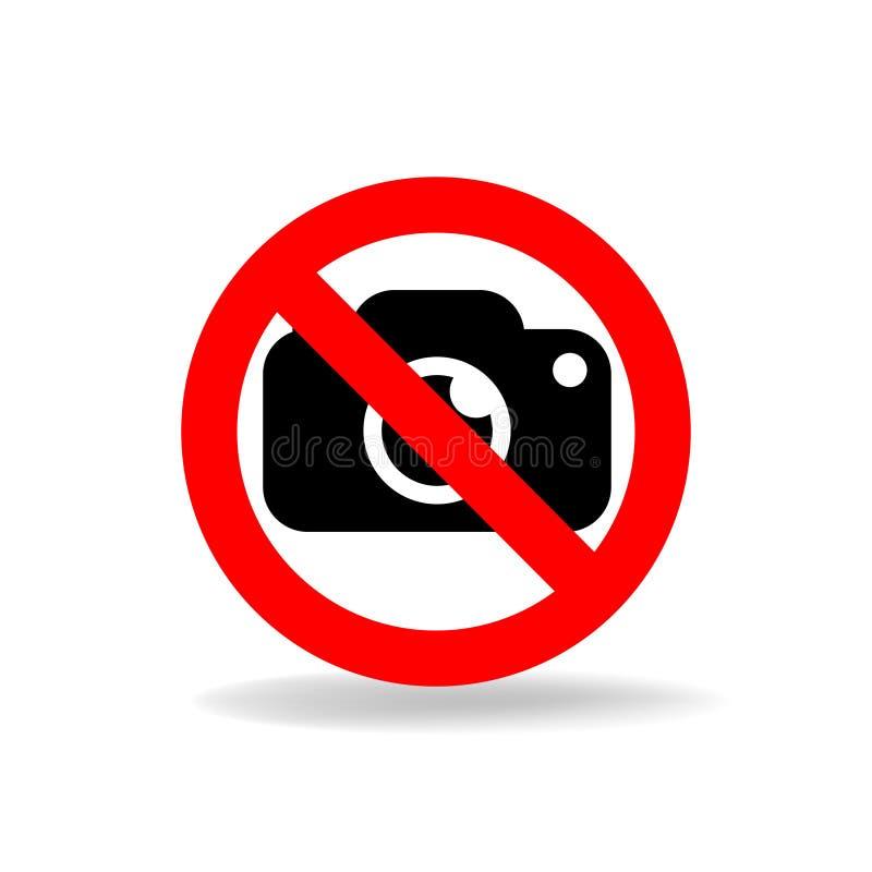 Nenhum sinal do vetor da câmera ilustração do vetor
