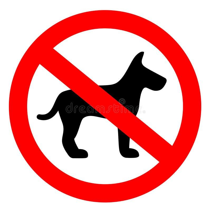 Nenhum sinal do vetor do cão ilustração do vetor