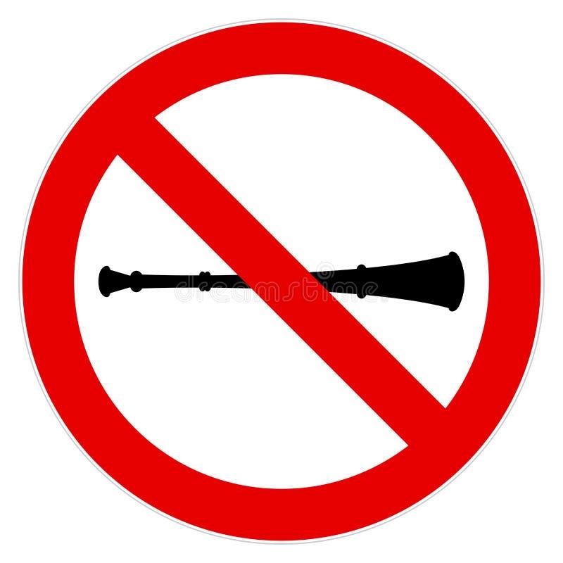 Nenhum sinal do vuvuzela ilustração royalty free