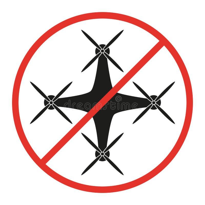 Nenhum sinal do zangão no fundo branco ilustração royalty free
