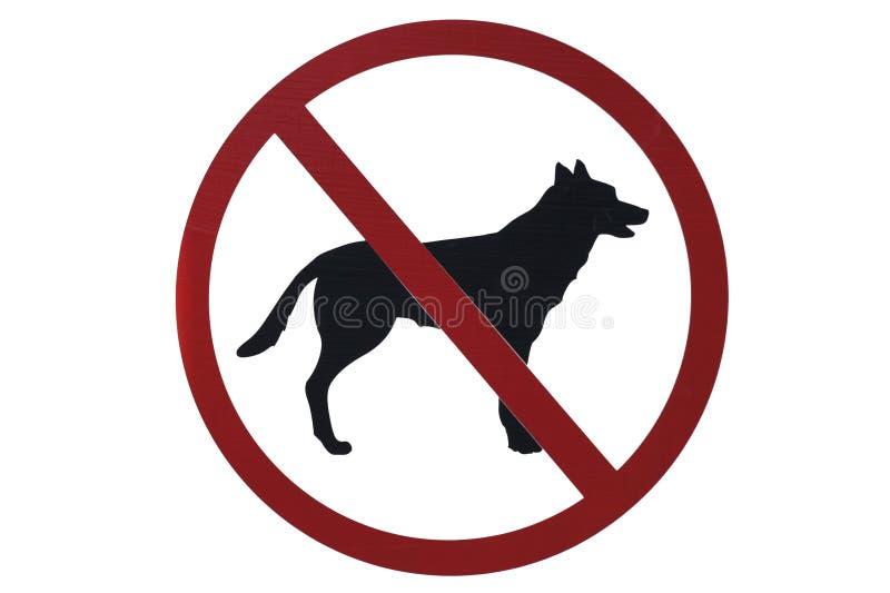 Nenhum sinal dos animais de estimação fotos de stock royalty free