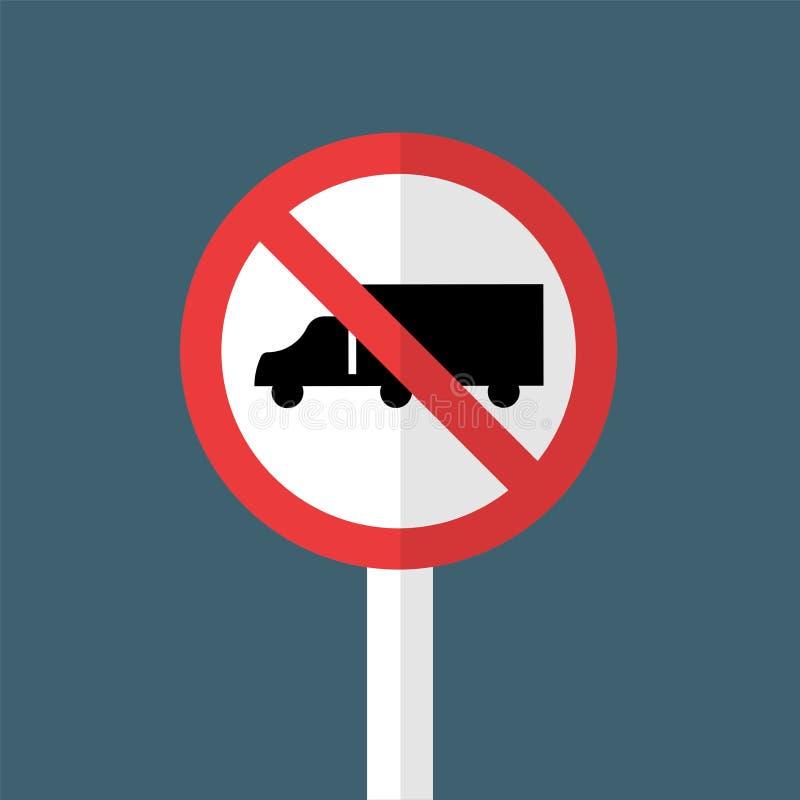 Nenhum sinal dos caminhões ilustração stock