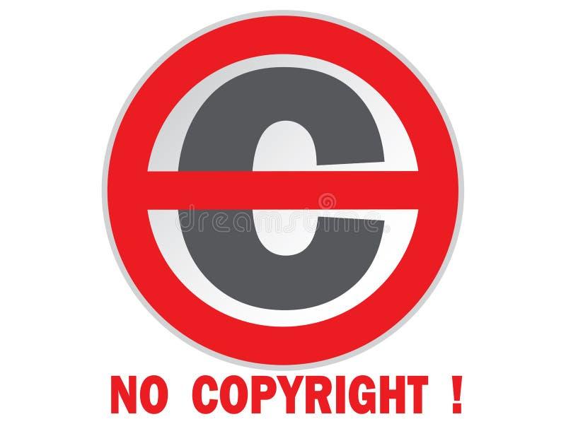 Nenhum sinal dos direitos reservados ilustração do vetor