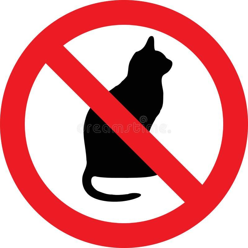 Nenhum sinal dos gatos ilustração do vetor