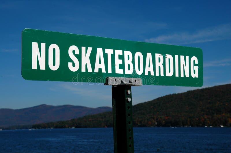 Nenhum Skateboarding imagem de stock