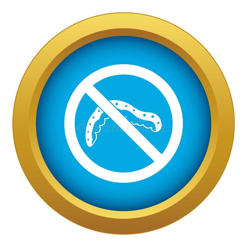 Nenhum vetor azul do ícone do sinal da lagarta isolado ilustração do vetor