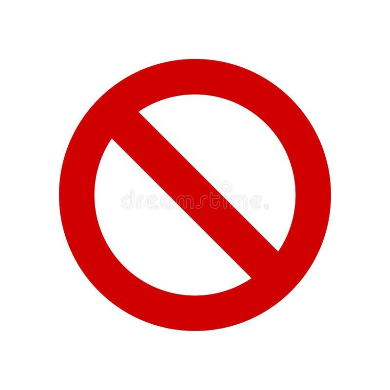 Nenhum vetor do sinal ilustração stock