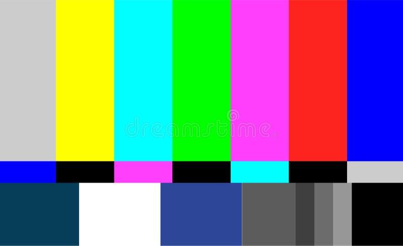 Nenhum vetor do teste padrão de teste da tevê do sinal Sinal das barras coloridas da televisão Introdução e o fim da programação  ilustração royalty free