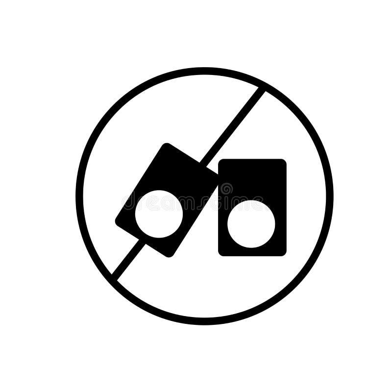 Nenhum vetor isolado no fundo branco, nenhum sinal do ícone da gritaria da gritaria ilustração royalty free