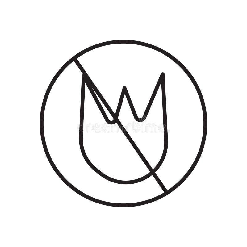 Nenhum vetor permitido fogo do ícone isolado no fundo branco, nenhum fogo permitiu o sinal, o sinal e os símbolos no estilo linea ilustração do vetor