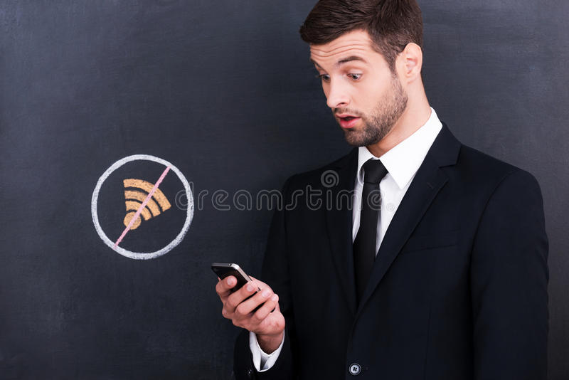 Nenhum Wi-Fi fotografia de stock