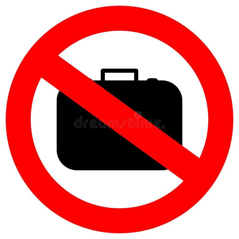 Nenhuma bagagem de mão ilustração stock