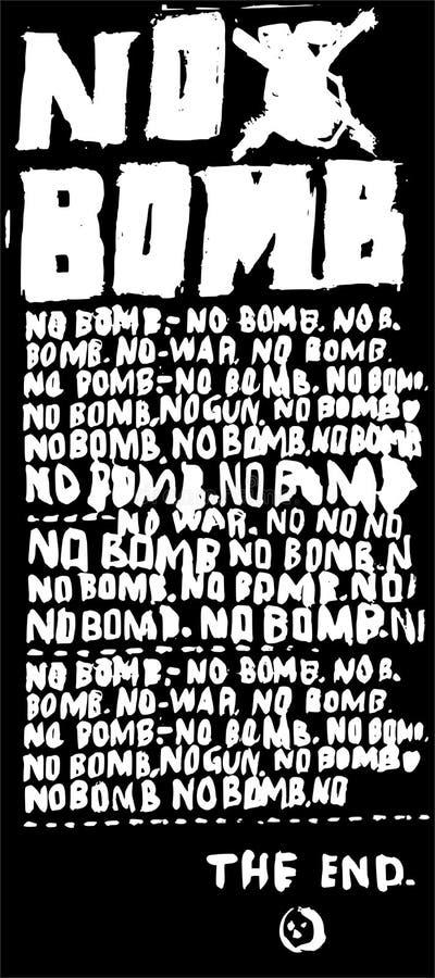 Nenhuma bomba ilustração stock