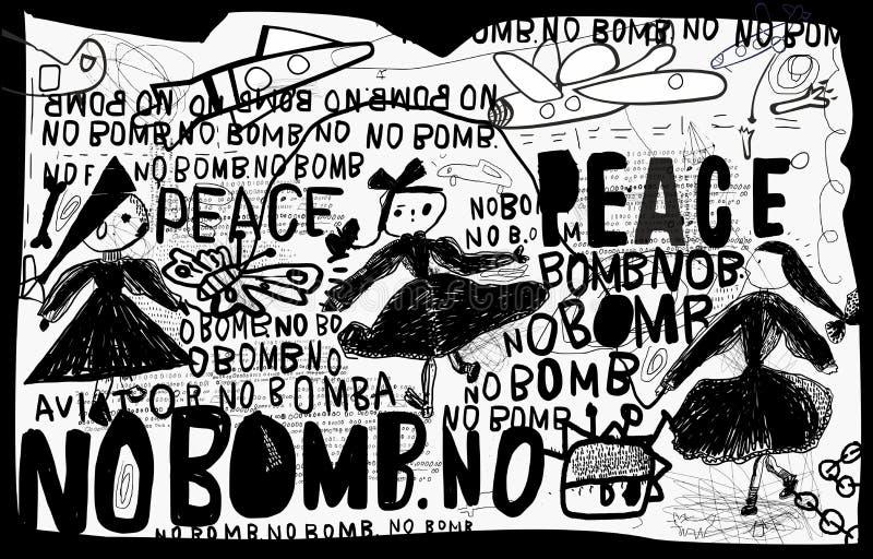 Nenhuma bomba ilustração do vetor