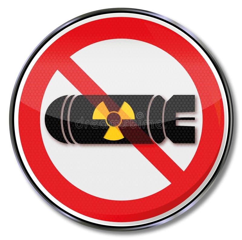Nenhuma bomba atômica ilustração do vetor