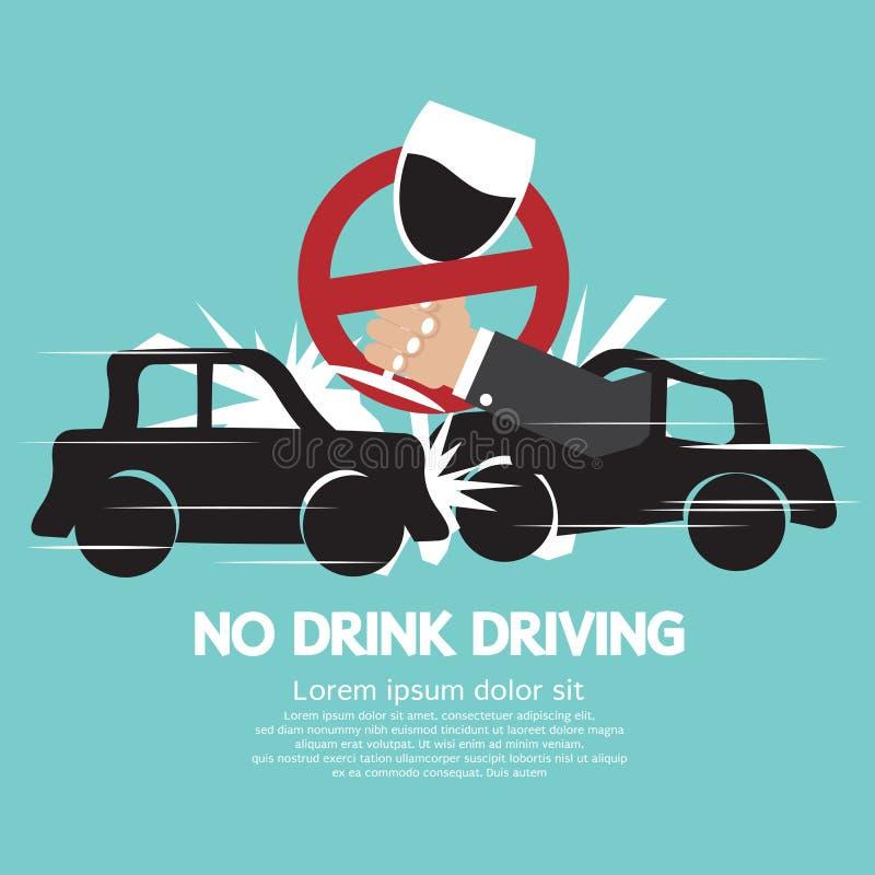 Nenhuma condução em estado de embriaguês ilustração royalty free