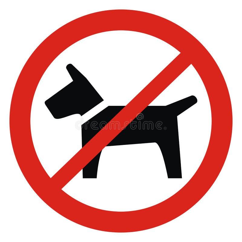 Nenhuma entrada com cães, ícone do vetor ilustração stock