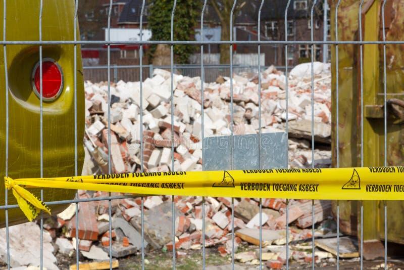 Nenhuma fita infrinjindo para o asbesto no dutch imagens de stock royalty free