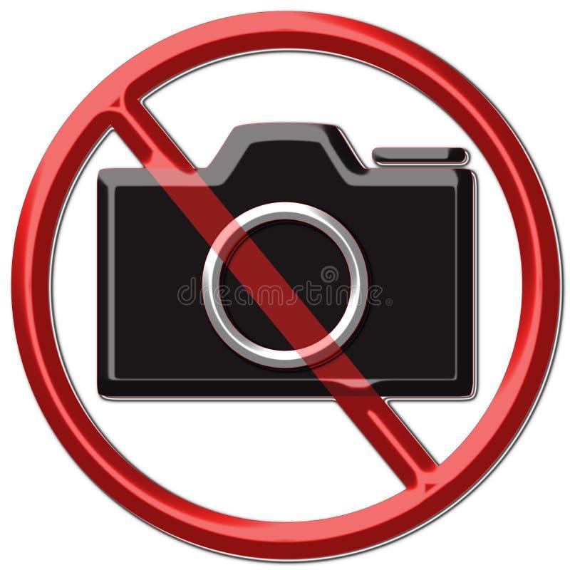 nenhuma foto de tomada ilustração do vetor