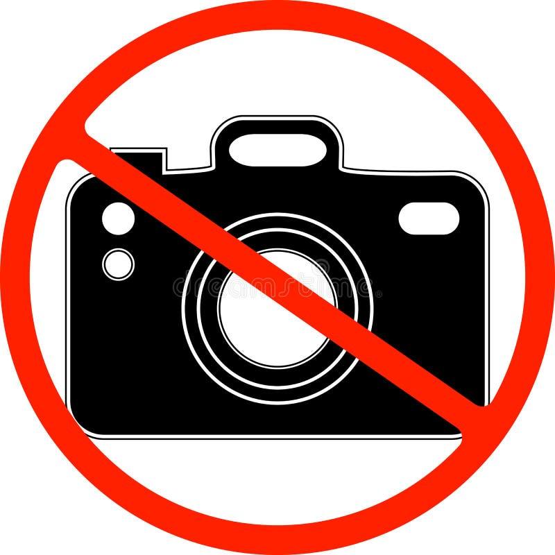 Nenhuma fotografia, c?mera proibiu o s?mbolo ilustração royalty free