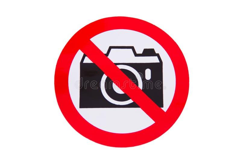 Nenhuma fotografia permitida imagem de stock