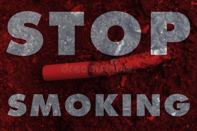 Nenhuma gota na terra, mundo da licença do cigarro ou do cigarro do fumo nenhum imagens de stock royalty free