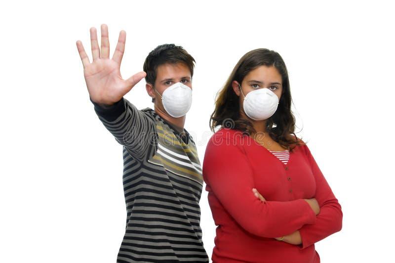 Nenhuma gripe imagens de stock