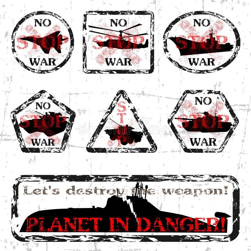 Nenhuma guerra! ilustração stock