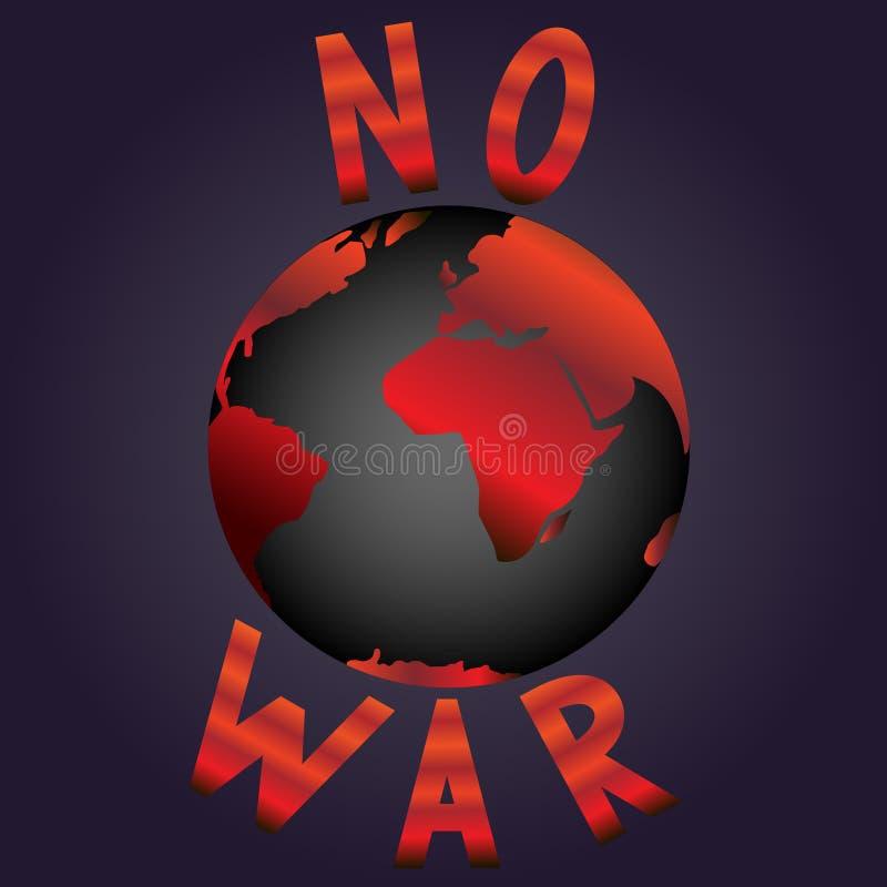 Nenhuma guerra ilustração do vetor
