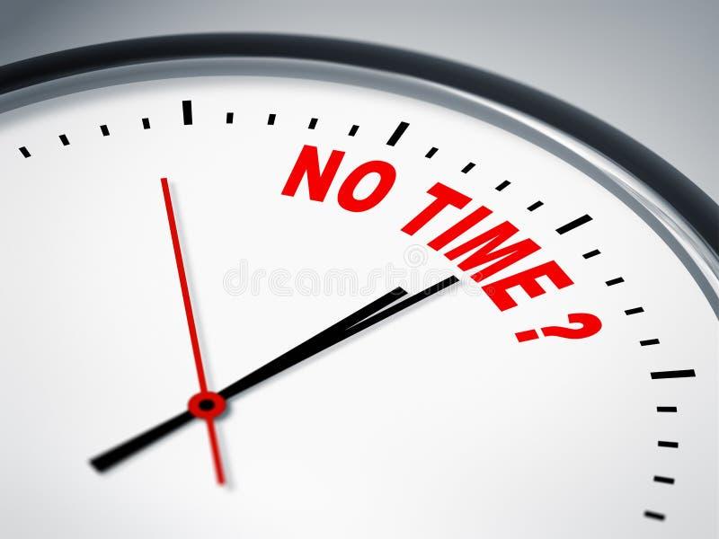 Nenhuma hora? ilustração do vetor