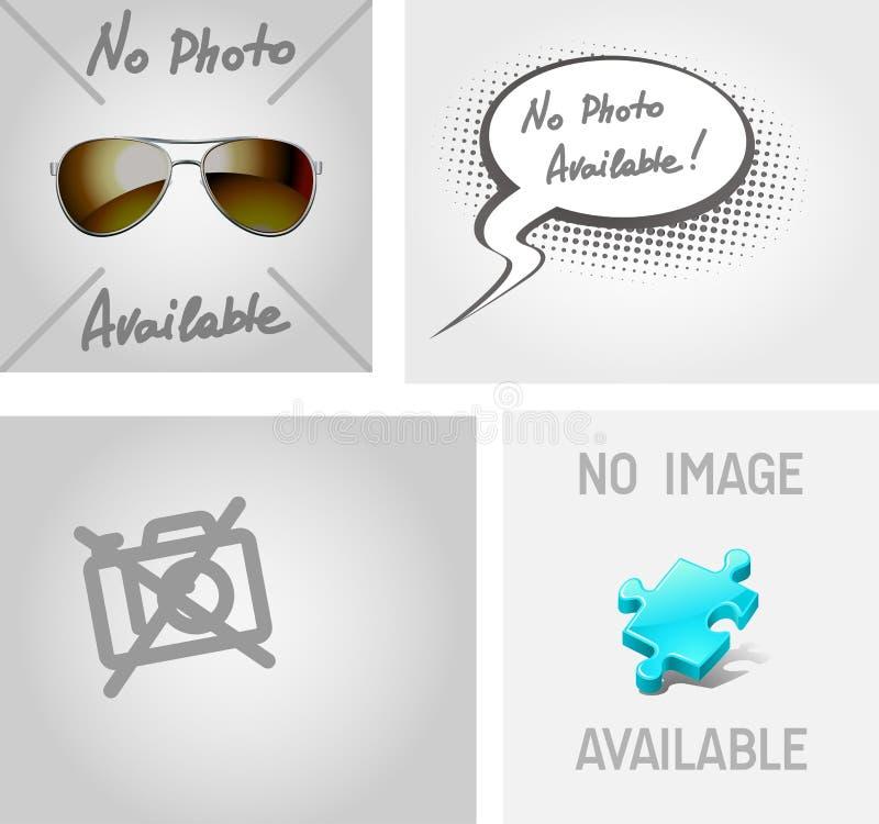 Nenhuma imagem, foto disponível ilustração stock
