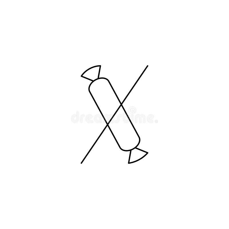 nenhuma linha ícone da salsicha ilustração do vetor