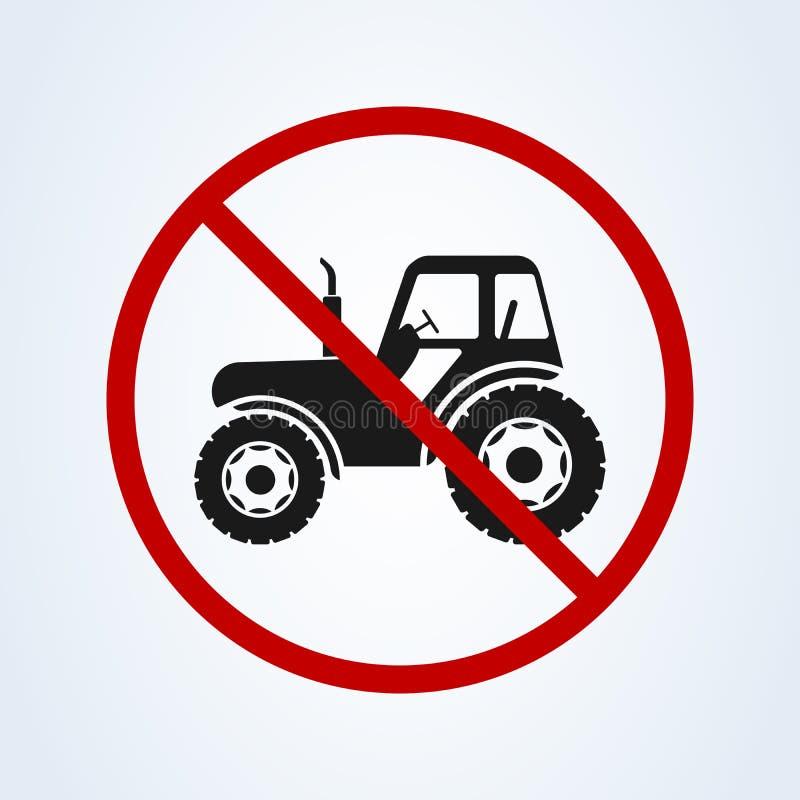 Nenhuma máquina da construção do vetor do ícone do trator, exploração agrícola de caminhão ilustração stock