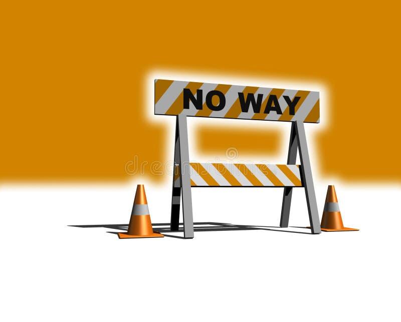 Nenhuma maneira! ilustração do vetor
