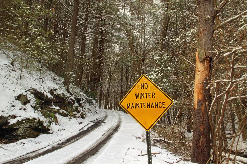 Nenhuma manutenção do inverno foto de stock