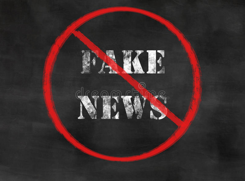 Nenhuma notícia falsificada imagens de stock