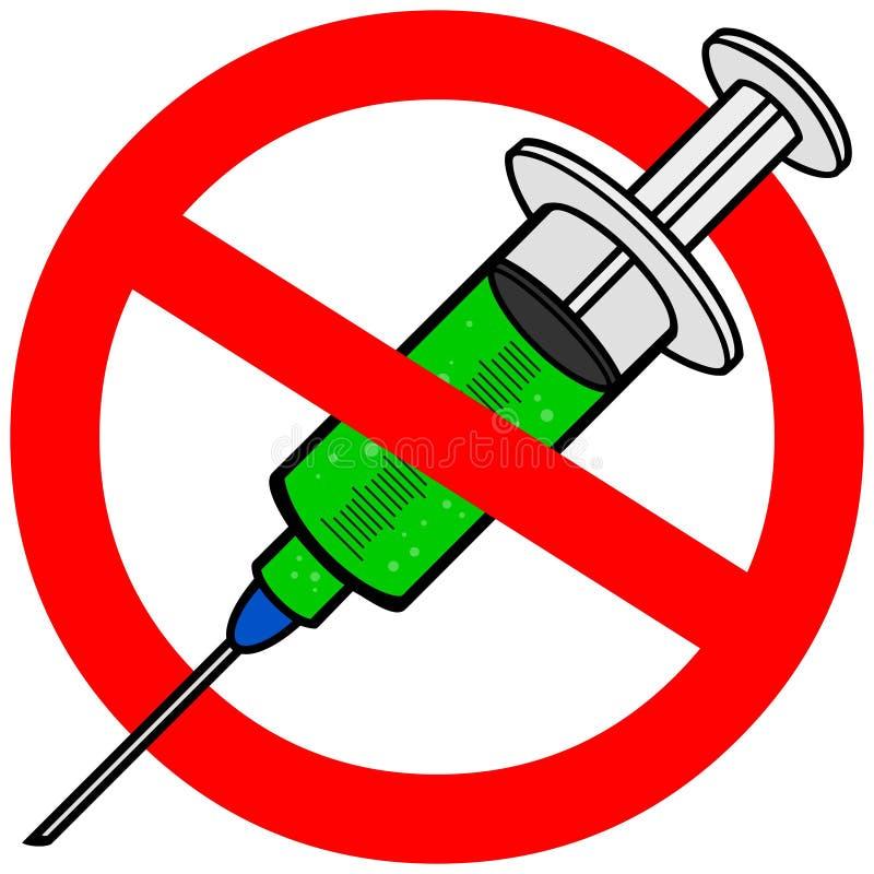 Nenhuma vacina contra a gripe ilustração do vetor