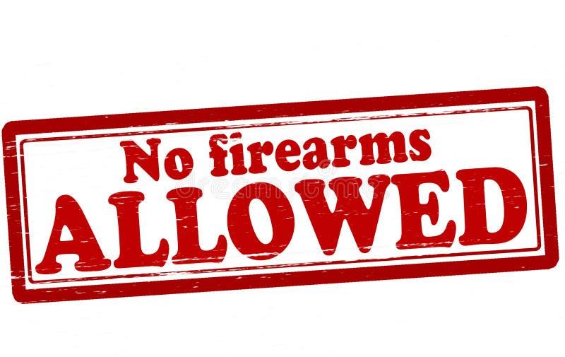 Nenhumas armas de fogo permitidas ilustração stock